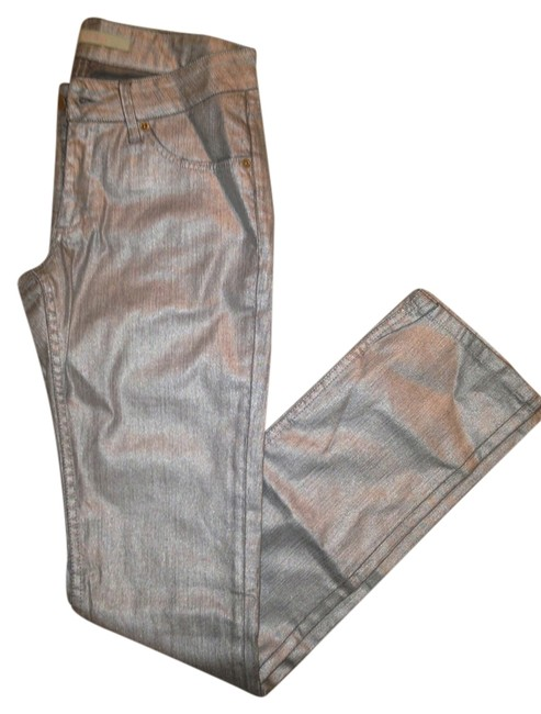 Item - Silver Coated Boot Cut Jeans Size 27 (4, S)