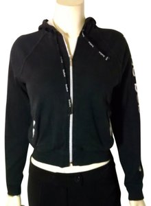 Bebe Sport Zip Front Hooded black white Jacket