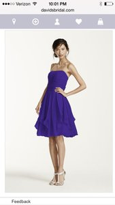 David's Bridal Regency Purple F14169 Dress