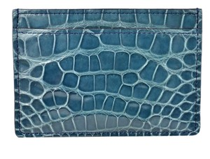 Louis Vuitton Authentic NEW Louis Vuitton Blue Crocodile Leather Card Holder