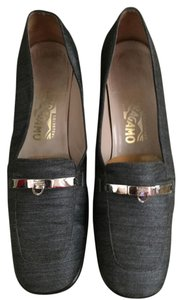 Salvatore Ferragamo Smoke Gray Pumps
