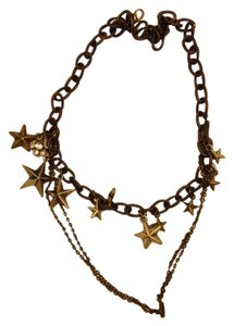 Bronze Stars Chains Necklace
