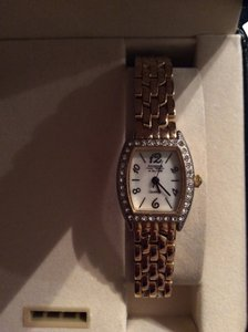 Waltham Perfect condition vintage gold and Cubic zirconia watch complete with papers and box