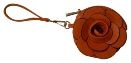 Preload https://img-static.tradesy.com/item/17703/catwalk-studio-flower-coin-orange-textured-leatherette-wristlet-0-0-540-540.jpg