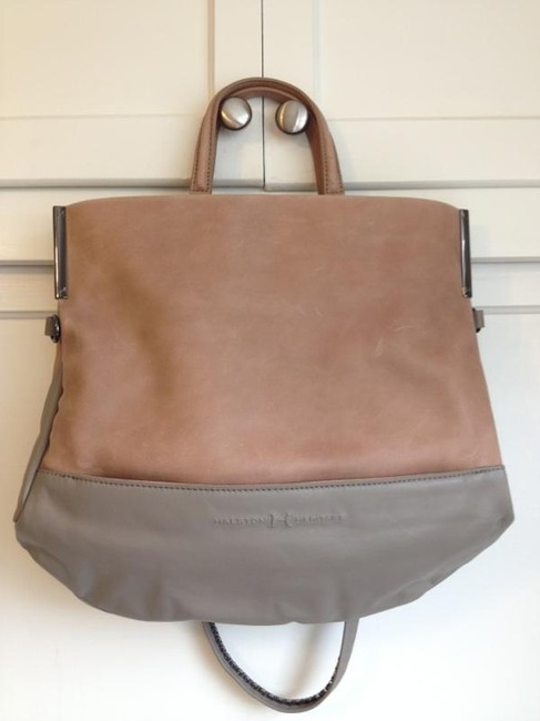Item - Tote Heritage Convertible Taupe/Gray Genuine Leather Cross Body Bag