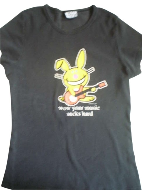 Preload https://item3.tradesy.com/images/black-happy-bunny-tee-shirt-size-8-m-177037-0-0.jpg?width=400&height=650