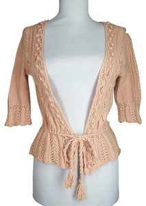 Moda International Crochet Drawstring Waist Cardigan