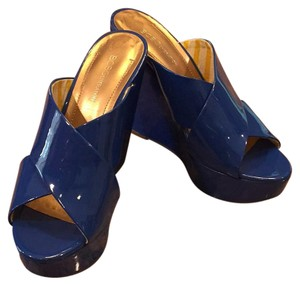 BCBGeneration Royal Blue Wedges