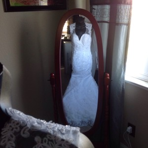 White Lace Wedding Gown Wedding Dress