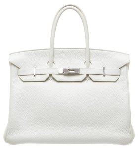 Herms Satchel in White