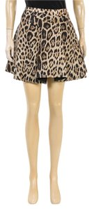 Roberto Cavalli Mini Skirt Brown Multicolor