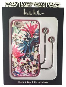 Nicole Miller NICOLE MILLER iPhone 6 Snap Case & Stereo Earbuds Flexible-fit Tropical flowers