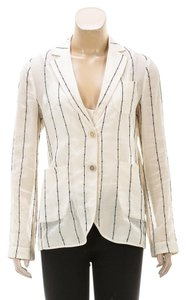 Brunello Cucinelli Cream/Black Womens Jean Jacket