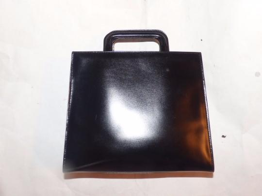 Gucci Small Style Mint Vintage Chrome Hardware Retractable Handles Great For Travel Tote in black Image 3