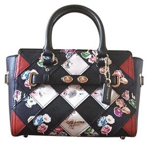 Coach Satchel in Black, Red, White, Floral