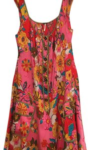 Free People short dress Pink Floral Print Floral Anthropologie on Tradesy