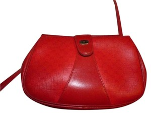 Gucci Mint Vintage Great For Travel Gold Hardware Red/navy Stripe Snap Accessory Col Cross Body Bag