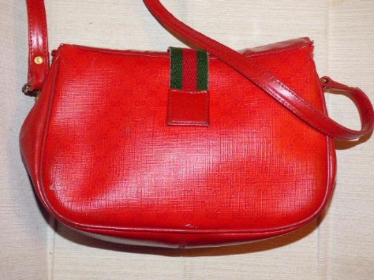 Gucci Mint Vintage Great For Travel Gold Hardware Red/Navy Stripe Snap Accessory Col Cross Body Bag Image 4