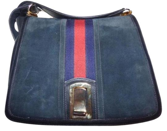 Preload https://img-static.tradesy.com/item/17704987/gucci-vintage-pursesdesigner-purses-blue-suedeleather-trim-with-wide-redblue-stripe-suedeleather-sho-0-2-540-540.jpg