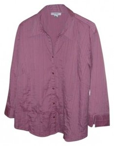 Dressbarn Button Down Shirt Rose