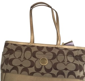 Coach Pink Chanel Gucci Gold Brown Diaper Bag
