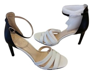 Jessica Simpson Colorblock High Heel White and Black Sandals