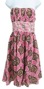 Plenty by Tracy Reese short dress pink multi Floral Fit-and-flare on Tradesy