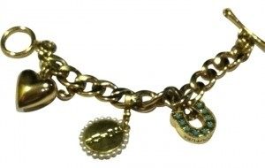 Juicy Couture Juicy Couture Gold Charm Bracelet with Charms