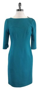 Blumarine short dress Teal 3/4 Sleeve Sheath on Tradesy