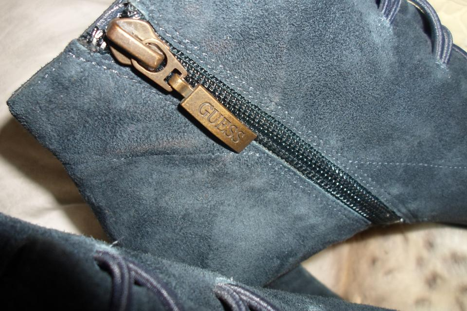 ea5832d771d9e Guess Dark Teal Blue Vintage Inspired Suede Ankle Boots/Booties Size ...