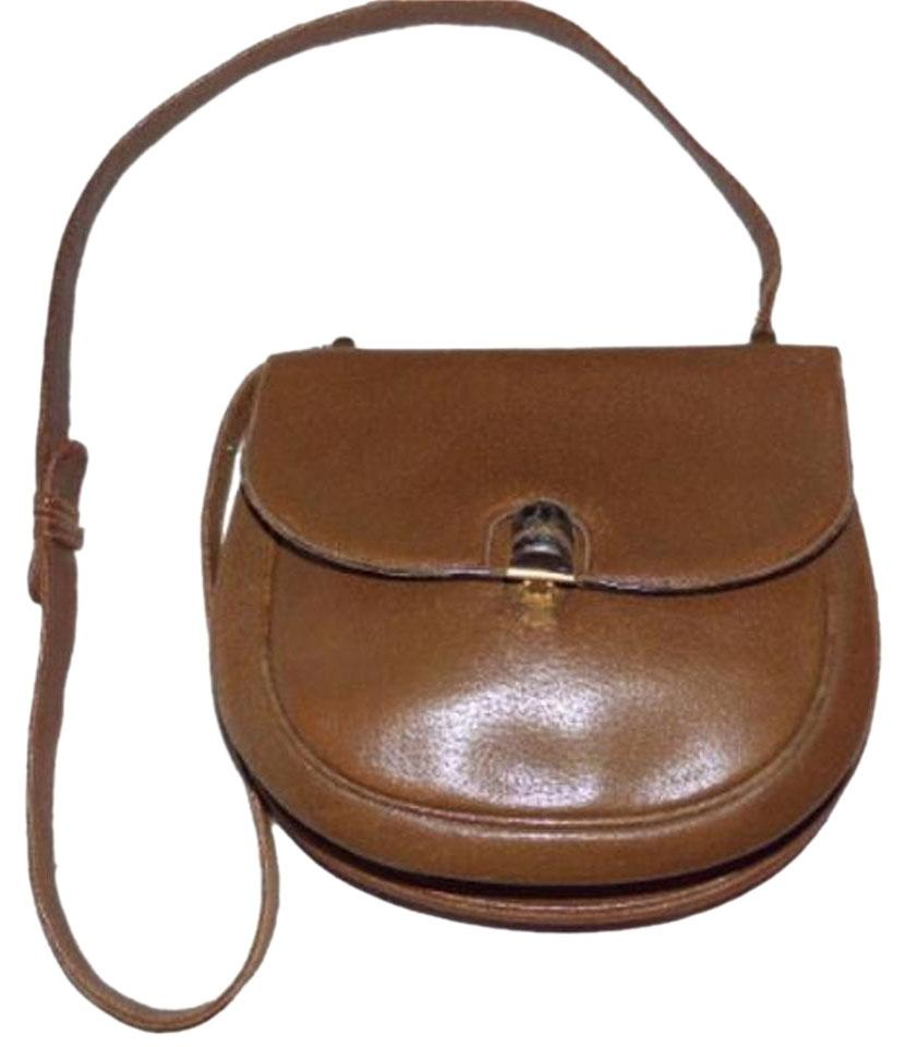 Gucci Gold Hardware True 1960 S Mod Two Strap Lengths Bamboo Clasp Shoulder Bag