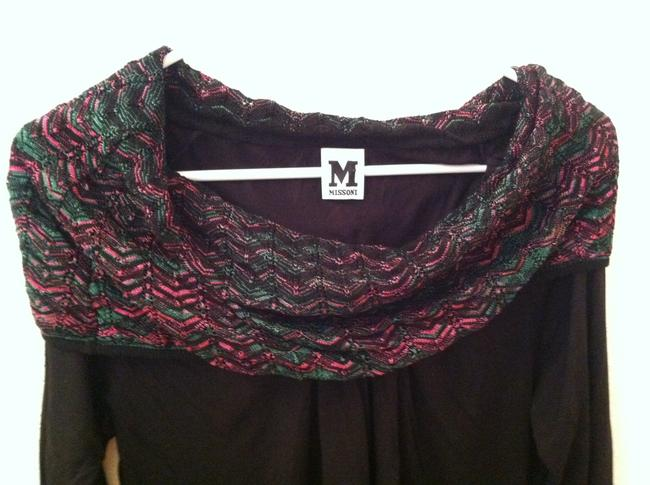Missoni Top Black Bright Pink Green