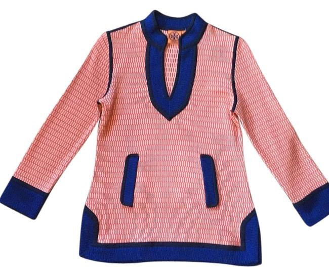 Item - Brick Patterned with Royal Blue Trim and Accents 11123112 Tunic Size 4 (S)