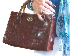 Dooney & Bourke Crocodile Tote in brown