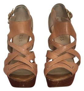 Guess Tan Platforms