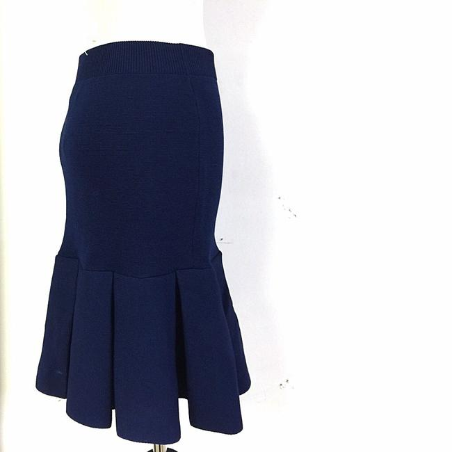 Torn by Ronny Kobo Tony Fitted Structured Stretch Pleated New Night Out Date Night Skirt Blue
