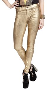 J Brand Denim Metallic Size 25 New With Tags Skinny Jeans-Coated