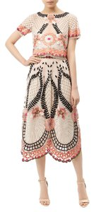 Temperley London Floral Embroidered Skirt Blush pink