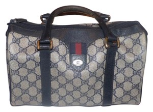Gucci Doctor's Speedy/boston Shades Of Blue G Print Red/navy Satchel in NAVY large logo with red/blue accent