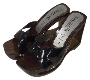 Toscanella Black and brown Wedges