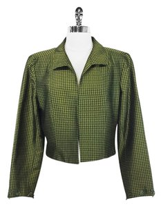 Kay Unger Green Womens Jean Jacket