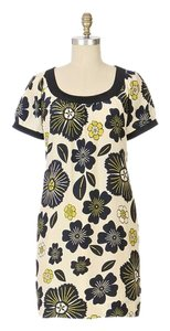Moulinette Soeurs short dress Blue Floral Shift Silk Short Sleeve on Tradesy