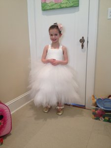 Lace Flower Girl Dress With Tulle Skirt