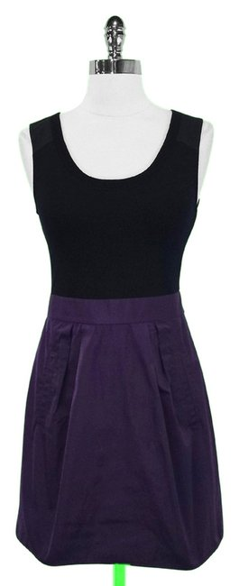 Preload https://item2.tradesy.com/images/theory-black-and-purple-wool-blend-sleeveless-a-line-mini-short-casual-dress-size-2-xs-1770676-0-0.jpg?width=400&height=650