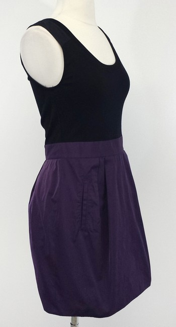 Theory short dress Black & Purple on Tradesy