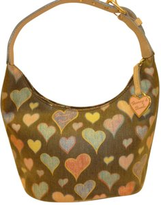 Dooney & Bourke Refurbished Coated Canvas Hearts Hobo Bag