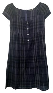 Burberry short dress Blue Shift Silk on Tradesy