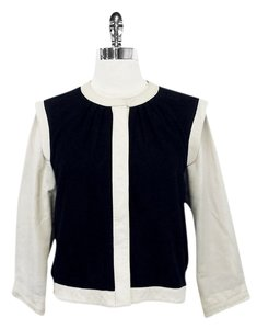 PJK Patterson J. Kincaid Black & White Leather Jacket