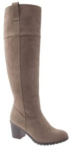 Lane Bryant Suede Wide Stacked Riding Tan Boots
