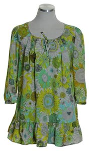 Liberty of London for Target Woven Flora 3/4 Sleeve Peasant Tunic